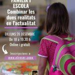 Webinar Gratuït «Família i Escola» dilluns 28 de desembre a les 18 h